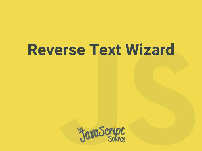 Reverse Text Wizard
