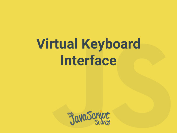 Virtual Keyboard Interface