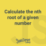 Calculate the nth root of a given number